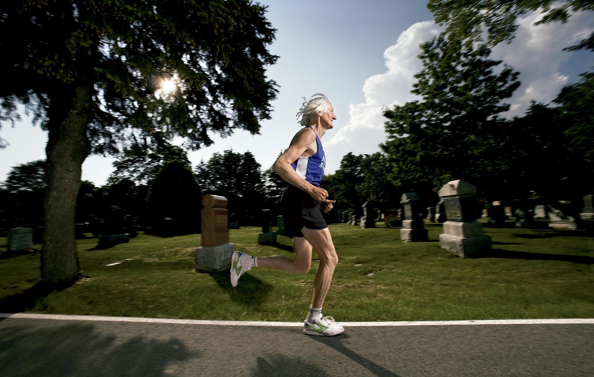 Ed Whitlock running