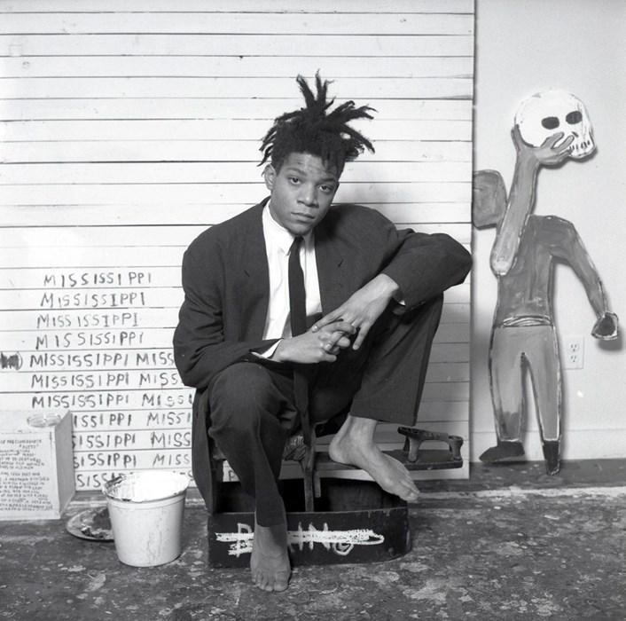 Basquiat in a suit