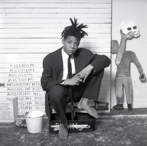 Basquiat in a suit